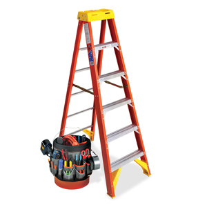 ladder and tools